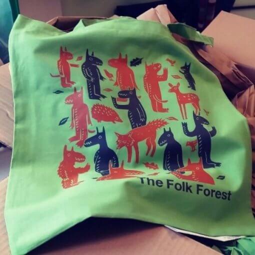 Folk Forest Tote Bag